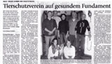 Zeitungsartikel Fundament